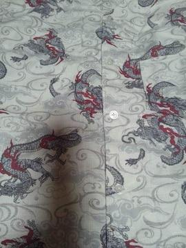 ☆新品白×雲海龍玉柄ダボシャツ110