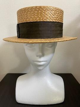 ◆《カンカン帽子/ヴィンテージ》 ベージュ �B◆