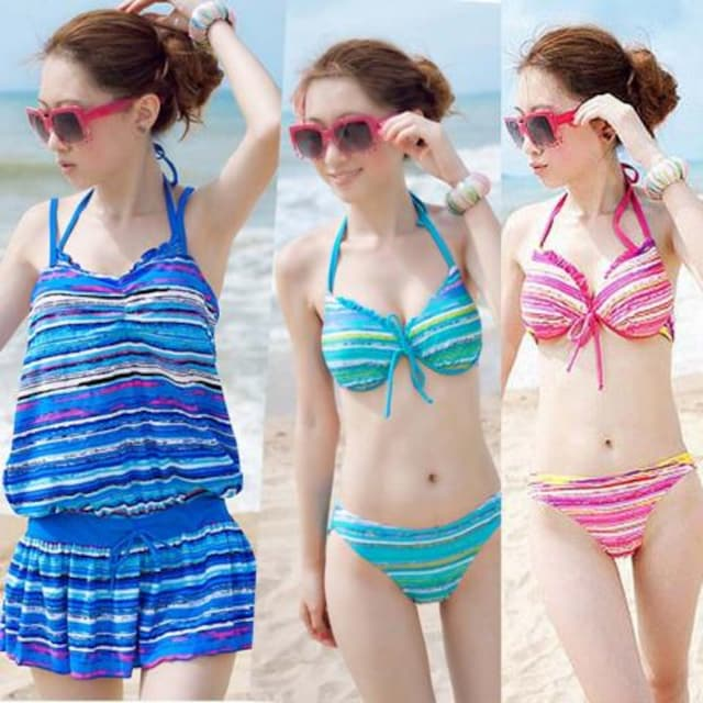 Y003即決 新品 水着 ビキニ 青 M エモダ セシル イング ザラ 好きに < 女性ファッションの