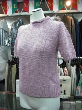 【LEMON-HOUSE】スモークピンクのハイネックセーターです
