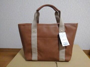 新品★GLACIER/グラシア★フェイクレザーハンドバッグ定価2980円