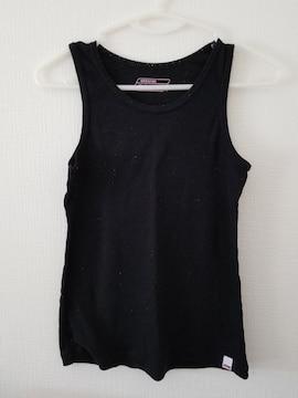 黒袖無しシャツ160A
