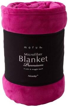 毛布 プレミアムマイクロファイバー シングル ピンク