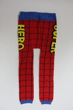 サイズ限定!半額!!スパイダーマン風柄ベビー用スパッツ/レギンス80-90