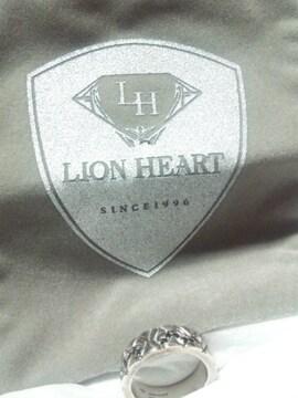 ライオンハート【LION HEART】925シルバー〈ブラックストーン〉リング 13号