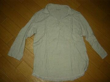 ノンネイティブnonnativeコットンニット7分丈ポロシャツ1