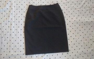 新品 スーツ3点セットのスカート ネイビー同色のストライプ