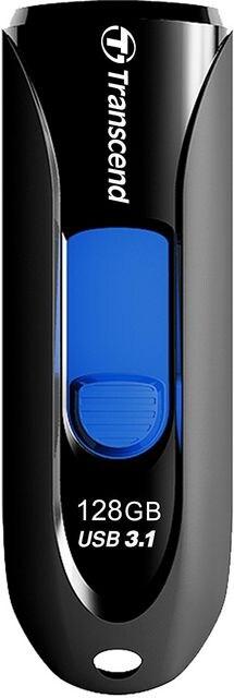 USBメモリ 128GB USB3.1 & USB 3.0 スライド式 ブラック  < PC本体/周辺機器の