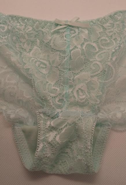 タンス整理品 総レースブラ&ショーツセット C75/Mサイズ/ミント < 女性ファッションの