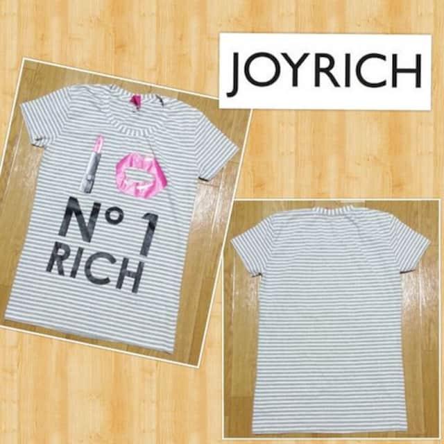 JOYRICH ジョイリッチ ボーダーTシャツ S 超美品 リップ 定価9000円程度 < ブランドの