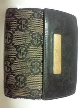 11854/GUCCIグッチ★確実本物男女兼用で人気のGG柄2つ折り財布