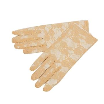 新品[7985]ベージュ◎花柄レースの手袋(女性用)