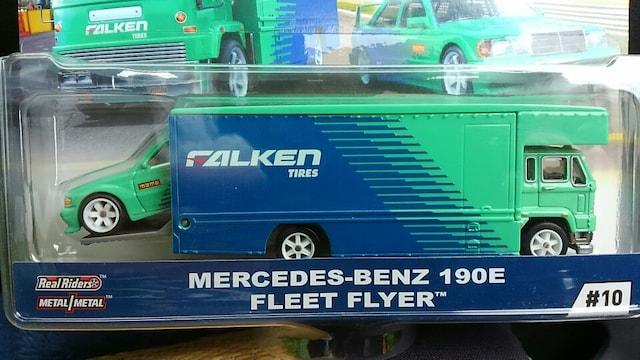 ホットホイール メルセデスベンツ 190E/ファルケン トランスポーター 未開封 新品 2台set < ホビーの
