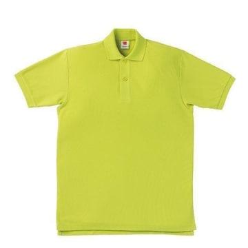 半袖ポロシャツアップルグリーンMサイズ鹿の子丈夫な素材新品A2
