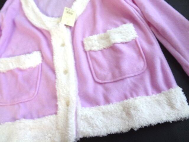 新品 St-toremu ボア フリース チェック ジャケット もこもこ < 女性ファッションの