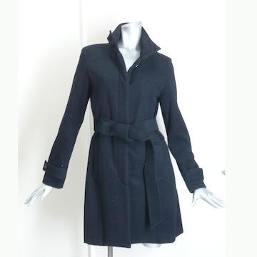 @@ウール混 綺麗スタイルコート・黒・美品・9号
