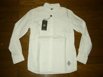 新品CRIMIEクライミーボタンダウンシャツシャツ白L長袖無地BD