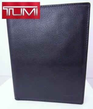 送無 TUMI トゥミ カーフレザー パスポートケース 黒 NASSAU 美品★dot