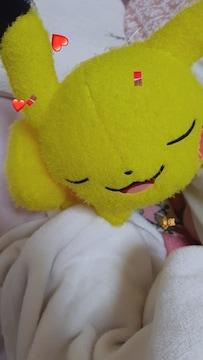 愛用の可愛すぎる一緒に寝てるお昼寝ピカチュウ(^з^)-☆