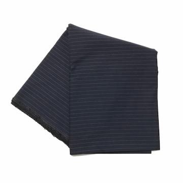 ジャケットパンツ厚手生地濃紺のピンストライプ(140×204)