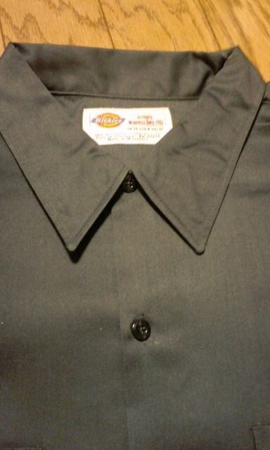 Dickiesディッキーズ長袖ワークシャツ チャコールグレーサイズ2XL18×35 < 男性ファッションの
