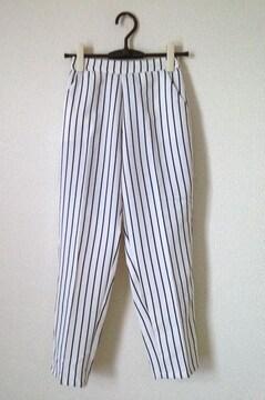 神戸レタス☆ホワイト ボーダー さらさら パンツ M