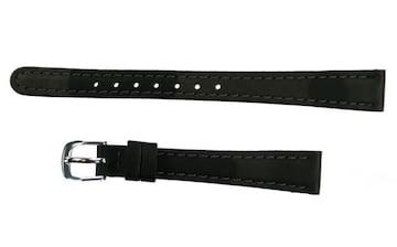 TURTLE-UNION 胎牛革時計バンド ブラック 12mm