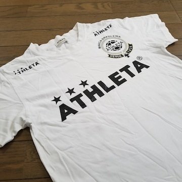 ★ATHLETA製 定番ロゴ入りTシャツ サイズS/アスレタウェア