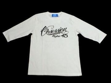 セール新品OBSESSIONオブセッション★ナンバリング七分袖TシャツSホワイト