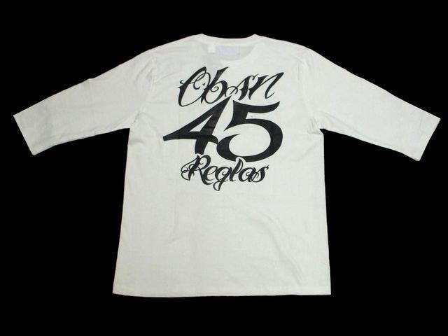 セール新品OBSESSIONオブセッション★ナンバリング七分袖TシャツSホワイト < 男性ファッションの