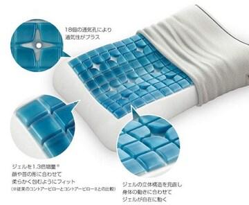 ラスト1 日本人の体型に合う枕 テクノジェルスリーピング コントアーピローII サイズ9