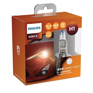 PHILIPS(フィリップス) ヘッドライト ハロゲン バルブ H1 3350K