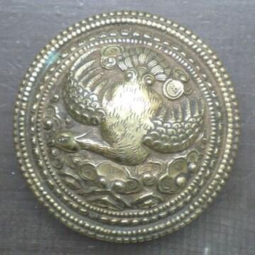 真鍮・銅製 バックル*鳳凰*  ベルト金具