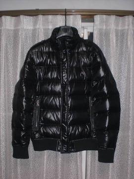 バーバリーブラックレーベル ホースマーク刺繍ダウンジャケット黒