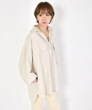新品!wcloset 薄手 BIGデニムシャツジャケット 白