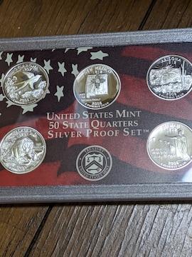 アメリカ各州記念クォータドル銀貨プルーフ貨幣セット!