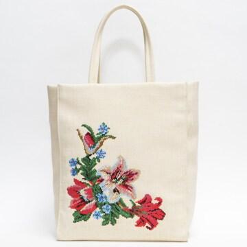 FEILERフェイラー トートバッグ 生成り 花柄 レア 良品 正規品