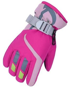 キッズ スキー スノボ グローブ ピンク