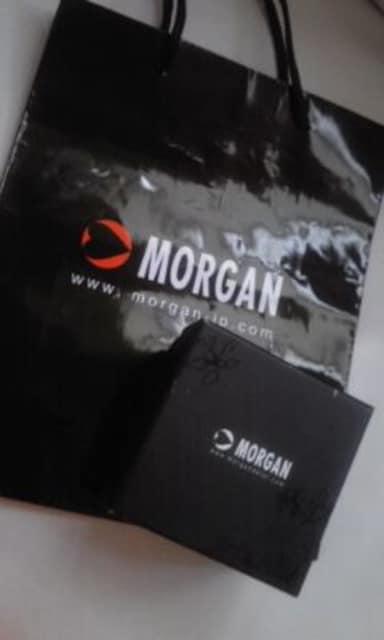 MORGANモルガンラインストーン スクエア 腕時計 < ブランドの