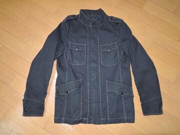 美中古TETE HOMMEテットオムM-65系シャツジャケットM黒薄手