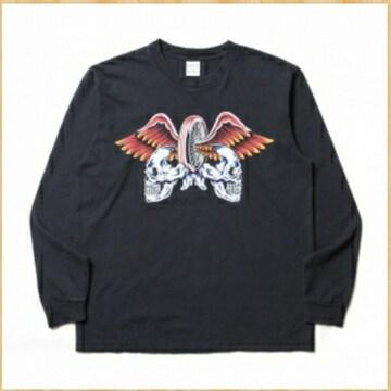 定価12100円 cootie ヴィンテージプリント 長袖Tシャツ S kj 黒 美品