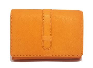 正規未使用新品ニューヨーカーレザー財布オレンジ二つ折りL