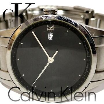 美品 1スタ★カルバンクライン/CK【スイス製】モダンな腕時計