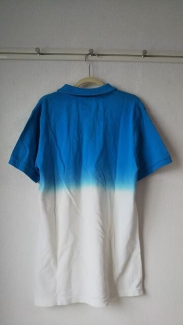 パープル&イエロー ポロシャツ L < 男性ファッションの