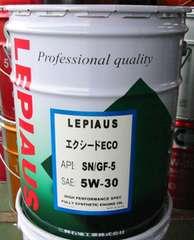 ☆ LEPIAUS エクシードECO. 5W-30.API-SN. ILSAC GF-5! 20L。
