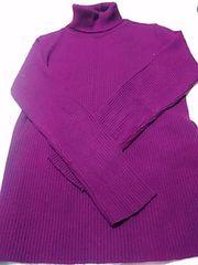 タートルセーター 13〜15号 濃い紫 定形外250
