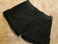 ナイスクラップMウール50ショートパンツ黒ブラックウエストゴム