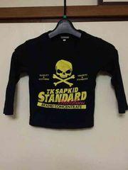 TK SAPKID/ロンT/長袖Tシャツ/ブラック/100cm