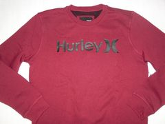 USA購入【Hurley】ロゴプリント 裏起毛スウェットトレーナーUS L