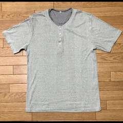 送料無料■管理No.7■重ね着風 半袖 Tシャツ Mサイズ グレー